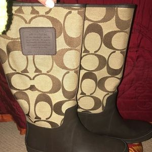 **NW**Authentic Coach Rainboots.